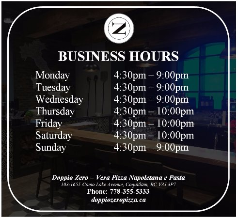 Coquitlam, Canada: UPDATED HOURS!! - Now Open Mondays!!