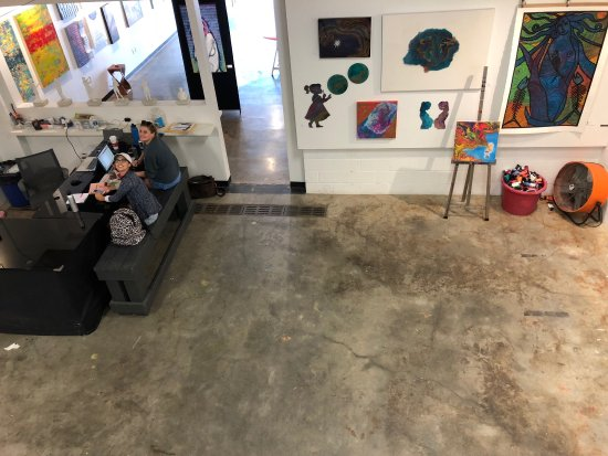 Resin Art and Photography Gallery: Meeting space available as well!