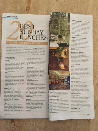 Kilmessan, Ireland: Recommended by Lucinda O'Sullivan as one of the top 20 places in Eire for Sunday Lunch 20th Nov