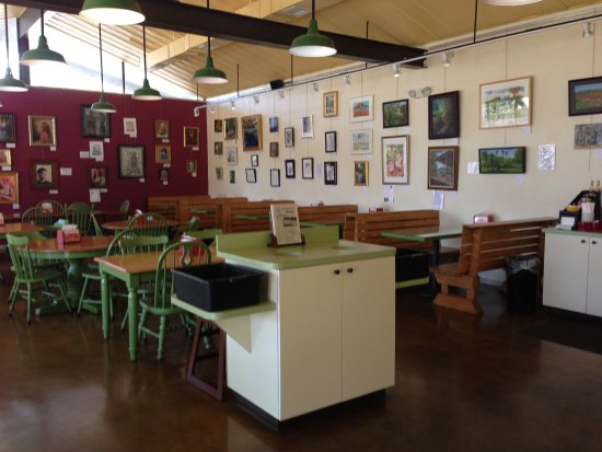 SweetBerries Eatery & Frozen Custard : Our walls are a gallery of fine art thanks to the GFAA