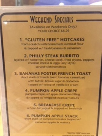 Mullica Hill, NJ : Current Weekend Specials - November 2017