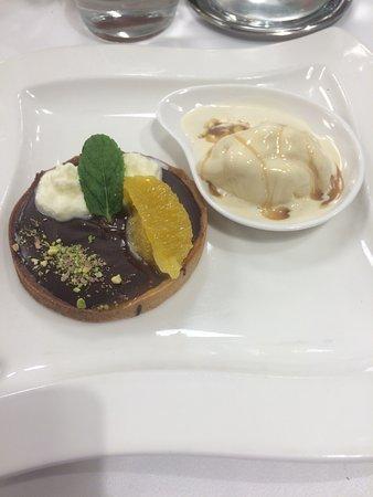 Canteleu, Francia: tarte chocolat, glace caramel