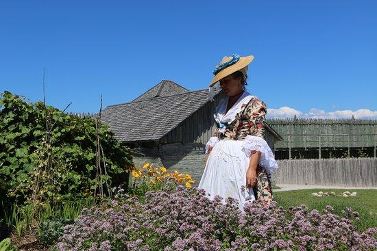 Mackinaw City, MI: Gardens at Colonial Michilimackinac.