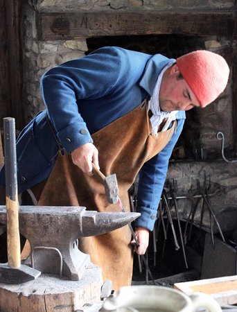 Mackinaw City, MI: Blacksmith at Colonial Michilimackinac.