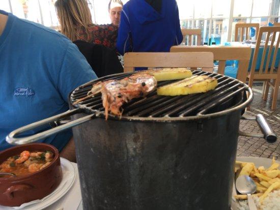 Porto Brandao, Portugal: The grill