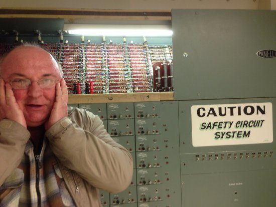 Richland, WA: In the control room of the B Reactor, Hanford, WA