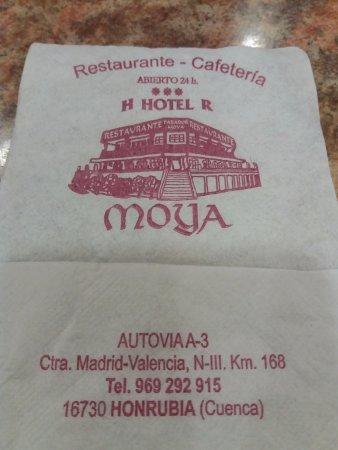 Honrubia, España: Servilleta con el logotipo
