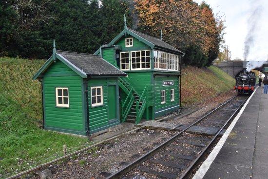 Rothley, UK: Ex Wembley signal box beautifully restores and working