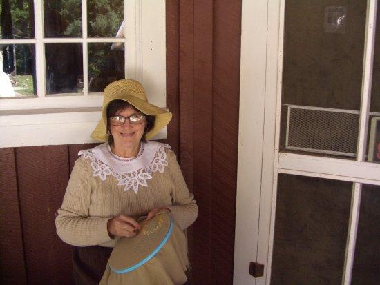 Cloudcroft, NM: Hand Embroidery, Sacramento Mtns Museum Living History Day, September