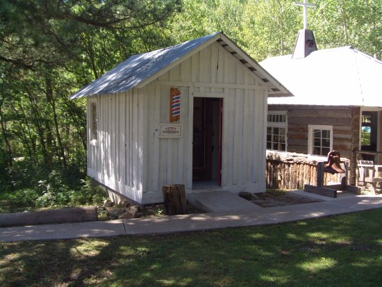 Cloudcroft, NM: Barber Shop, Sacramento Mtns Museum Living History Day, September