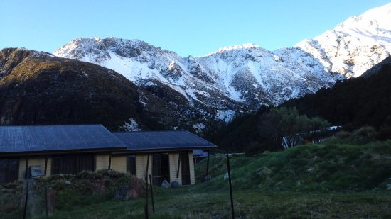Mt. Cook Village, Neuseeland: View from Aoraki Crt Unit later 2nd morn (big change from day before!)