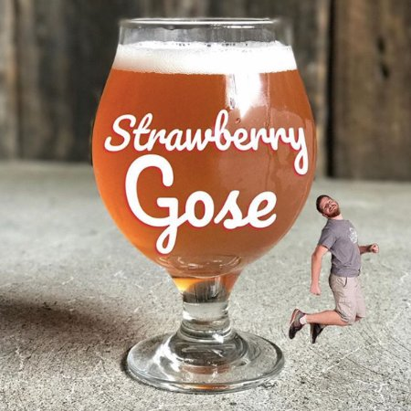 Indiana, PA: A tart and happy little strawberry Gose.