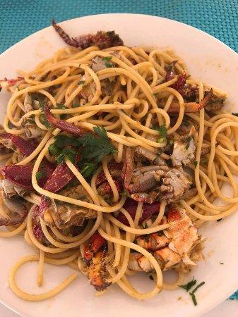 Vila do Maio, Kaapverdië: Spaghetti wit Crabs