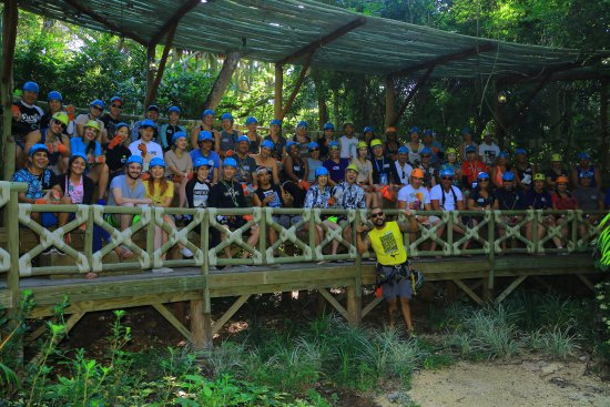 Selvatica: The whole group with Bruno