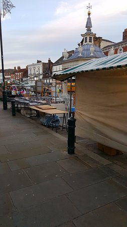 Beverley, UK: Setting up the stalls on a Saturday