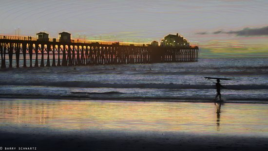 Southern California Beach Club: Oceanside Pier at Sunset - just a 2 minute walk from the resort