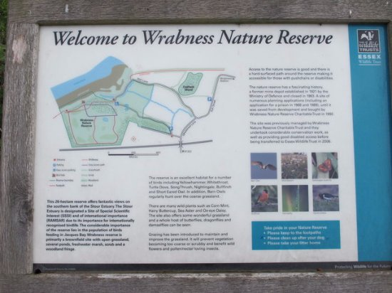 Manningtree, UK: Wrabness Nature Reserve sign