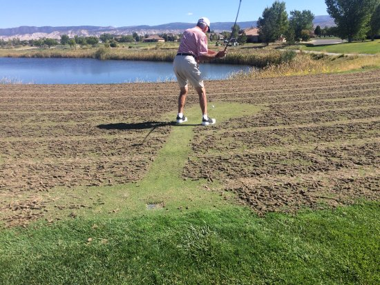 Montrose, CO: Unacceptable plugs on the tee boxes