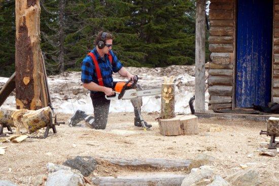 نورث فانكوفر, كندا: lenhador em ação