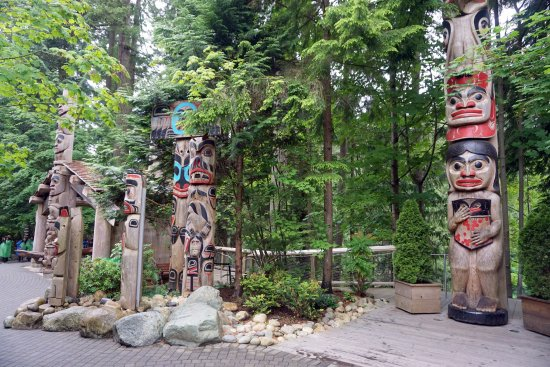 North Vancouver, Kanada: totens na entrada