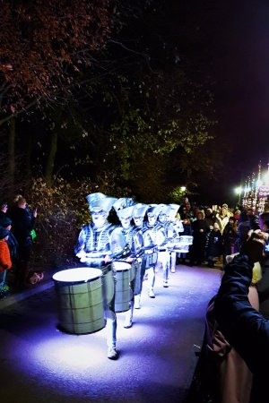 Alnwick, UK: The drummers at the grand lantern parade. Apparently they were the whole parade.
