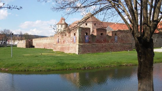 Fagaras, Romania: Outside the castle walls.