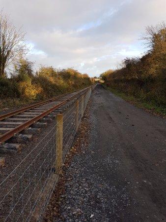 Alnwick, UK: The new line awaiting opening.