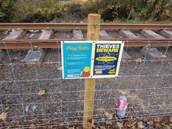 Alnwick, UK: The new fence line