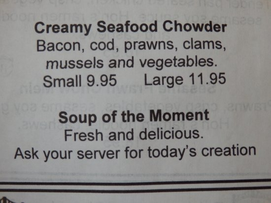 Pender Island, Canada: Loved The Soup of the Moment
