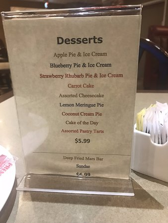Deer Lake, Kanada: The Desert Menu