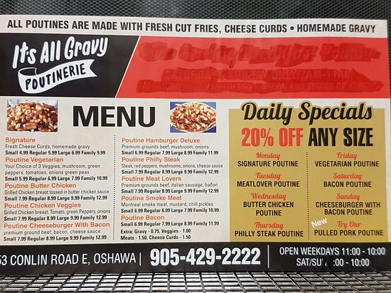 Oshawa, Canada: Its All Gravy Poutinerie