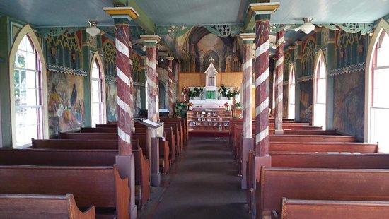 Honaunau, Гавайи: Inside of church...