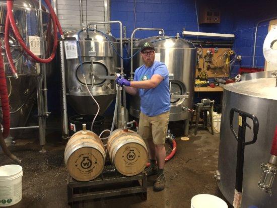 Livingston, MT: Barrel Aging, with Willie's Distillery barrels.