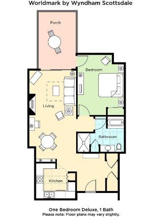 Worldmark scottsdale one bedroom suite floorplan picture of worldmark scottsdale scottsdale for Scottsdale 2 bedroom suite hotels
