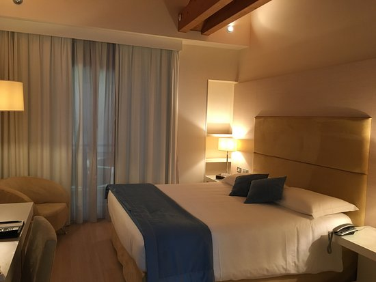 Tessera, Italia: Large comfy bed and vaulted ceilings