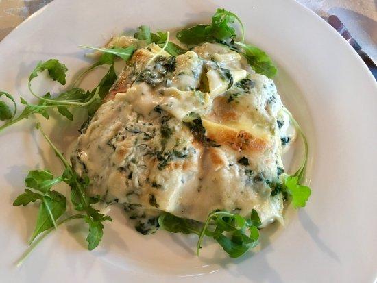 Tessera, Italy: Spinach lasagna
