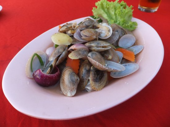 Butterworth, Malasia: Clams in ginger and spring onions