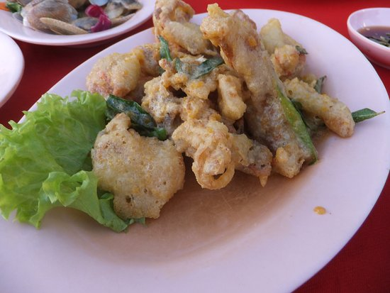 Butterworth, Malasia: Battered Salted Egg Soft Shell Crabs