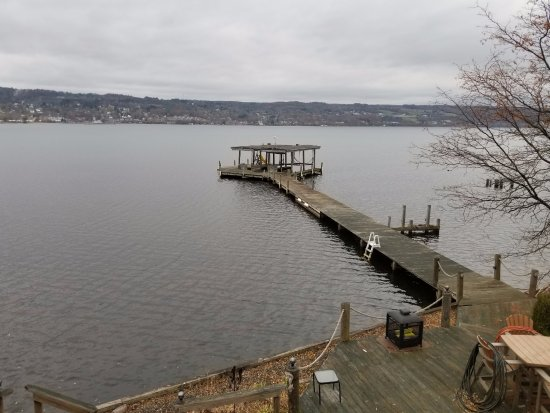 Burdett, NY: View of the lake from the Blue Room