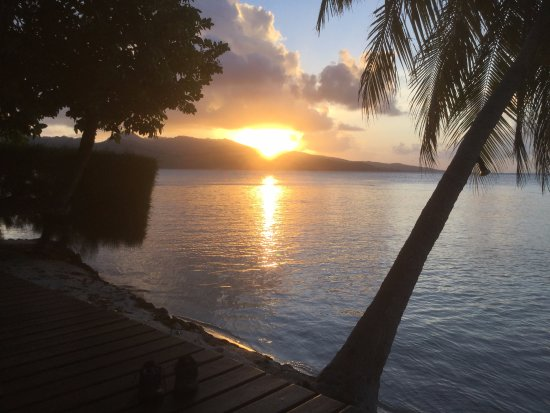 Vahine Island, Polinezja Francuska: View from our bungalow