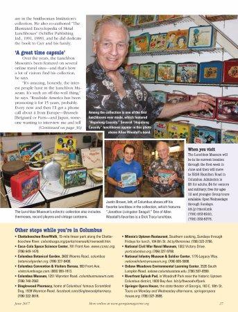 Columbus, Τζόρτζια: Allen Woodall, The Lunch Box Museum. Georgia Magazine,June 2017