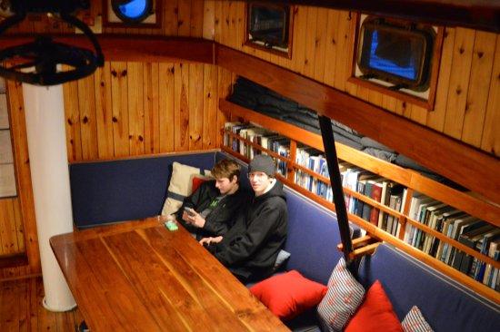 My boys took a little break below deck - Picture of Schooner