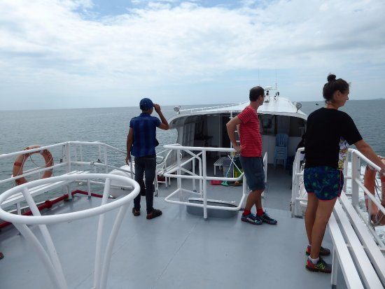 Ha Tien - Phu Quoc Boat Service: the outside deck