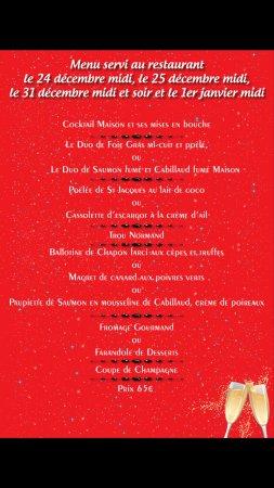 Restaurant Chez Laurent: menu fin d année