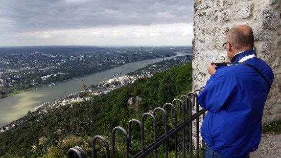 Drachenfels : Vy norrut mot Bonn