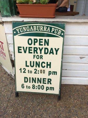 Yungaburra, Australia: sign