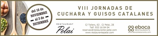 Restaurant Pelai : VIII Jornadas de Cuchara y guisos catalanes