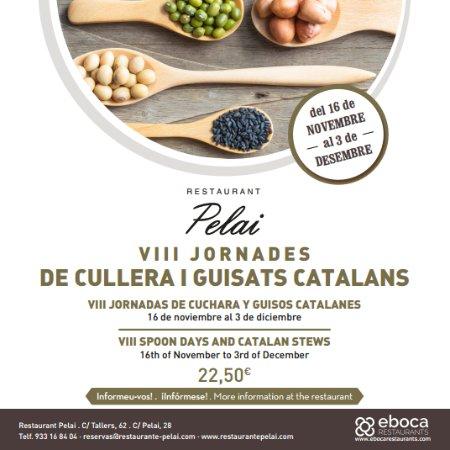 Restaurant Pelai : VII JORNADAS DE CUCHARA Y GUISOS CATALANES