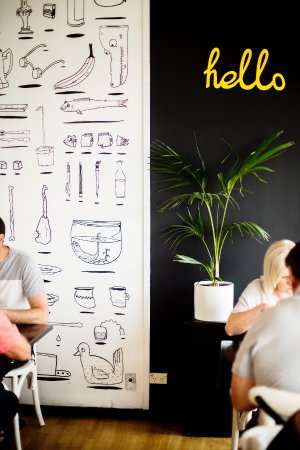 Belmont, Австралия: Cafe Macquarie hello