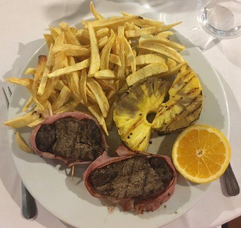Arraiolos, Portugal: Bife de vitela grelhado